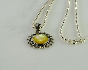 """Reserved Damianaortiz Sterling Sun Pendant on a Sterling Adjustable Chain 18""""- 21"""""""