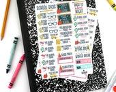 Back To School Planner Stickers - Full School Year