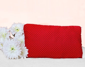 Red Polka Dot Makeup Bag ~ Red Polka Dot Coin Purse ~ Red Polka Dot Zipper Pouch ~ Bridesmaid Gift Idea ~ Gift Idea ~ Gift For Her