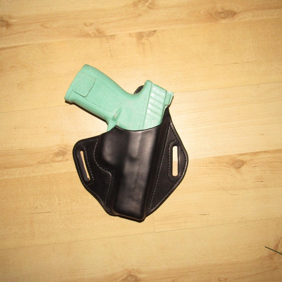 "Leather Holster for S&W SD40ve 4""Barrel custom crafted from premium leather for EDC, OWB"