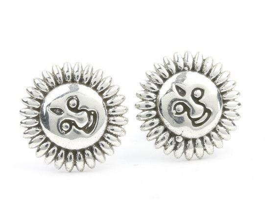 Sterling Silver Sun Stud Earrings, Face Posts, Cosmic Stud Earrings, Boho, Gypsy, Festival Jewelry