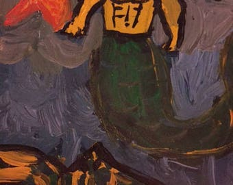 Merman Dude Painting