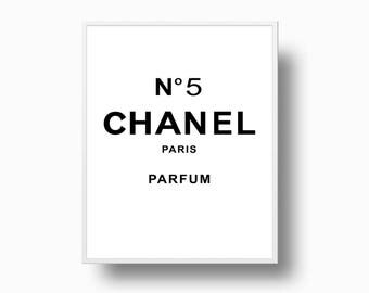 Chanel No 5 print, Chanel Logo, Coco Chanel poster, Coco Chanel perfume, fashion print, Chanel No 5 parfum, Instant Download Print