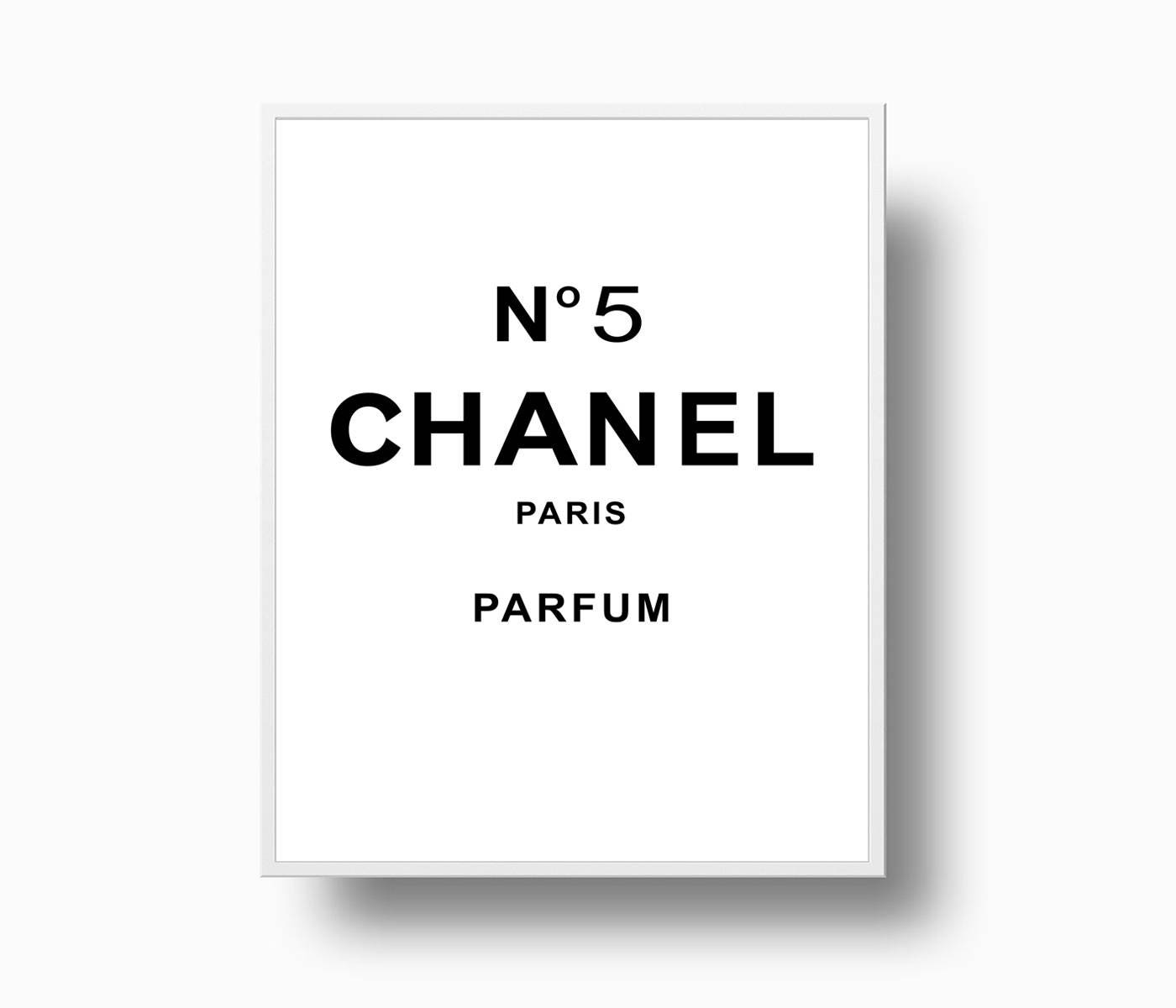 chanel no 5 print chanel logo coco chanel poster coco. Black Bedroom Furniture Sets. Home Design Ideas