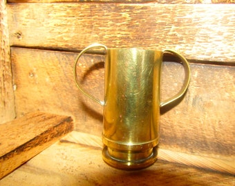 Trench Art Trophy Cup - Vintage - Handmade