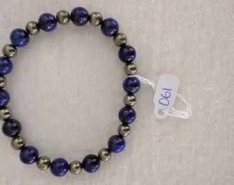 Blue Lapis Lazuli & Pyrite Bracelets