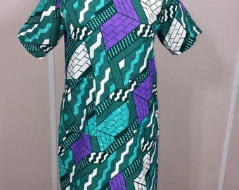 African Print Dress, Ankara Dress, Shift dress