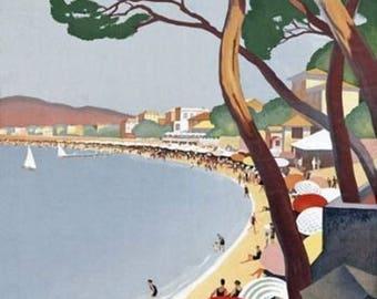 France Cote D'azur Poster A3 or A4 Matt