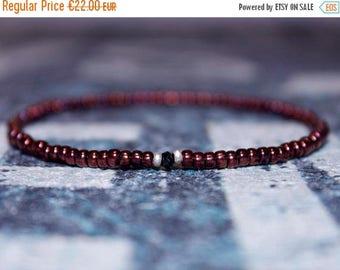 ON SALE Gifts for Men - Black Spinel Bracelet with Small Beads - Men's Bead Bracelets Gem