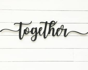 Together Word Cutout | Wooden letters | Together Sign