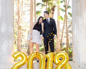 2018 Gold Number Balloons | Gold Number Balloons | Metallic Number Balloons | Gold Party Decorations | Class of 2018