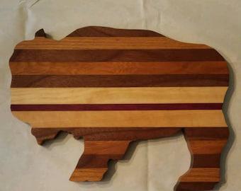 Small Buffalo Wood Cutting Board