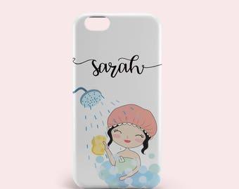 Custom iPhone 8 Case - iPhone 8 Plus Case -iPhone 7 Case - iPhone 7 Plus Case - iPhone 6 Case - iPhone 6s Case -iPhone se case-Bathing Girl