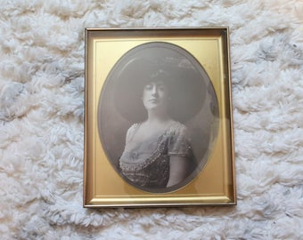 Authentic Vintage Framed Titanic Beauty