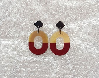 Buffalo Horn Earrings QG03