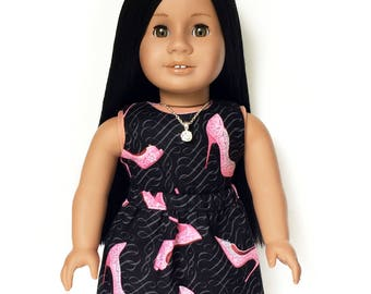 Tank Top, Reversible, Stiletto, High Heel, Black, Pink, American, 18 inch Doll Clothes, Summer