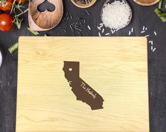 Custom Cutting Board, Custom Cutting Board State, Custom Cutting Board Wedding, Wedding Gift, Housewarming Gift, State Cutting Board, B-0015