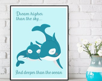 Nursery decor, Children poster, Nursery quote print, Baby girl nursery, Nursery wall art, Illustration art, Nursery art animals, Art print