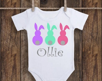 Easter Bunnies Little Girl Bodysuit