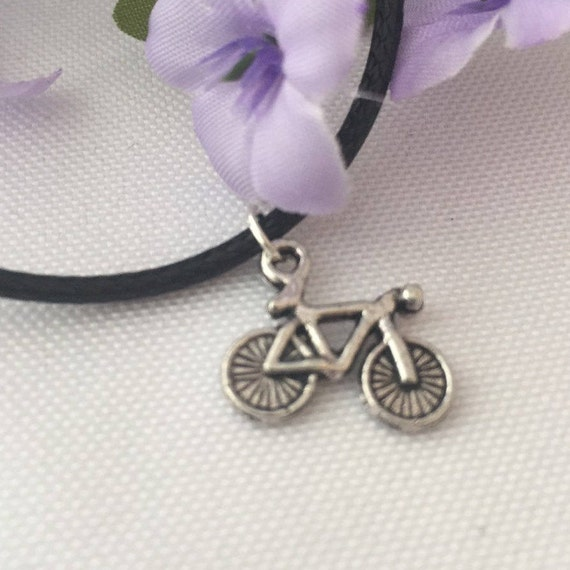 Bicycle Charm Necklace, Silver Bike Necklace, Gifts for Bikers Cyclists, Cycling Necklace, Bicycle Charms, Sports Jewelry, Cycling Team Gift