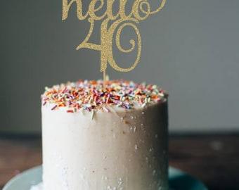 40th birthday cake Etsy