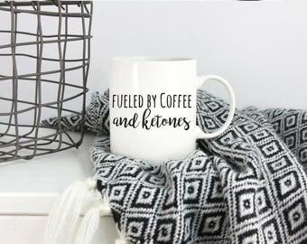 Keto Mug, Ketogenic, Ketones, Ketogenic Diet, Ketone, Keto AF, Keto Queen, Keto Gift, Ketosis Mug, Keto Coffee Mug, Bulletproof Coffee Mug