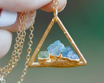 Triangle Custom Mother's Necklace // Gold, Rose Gold, or Silver