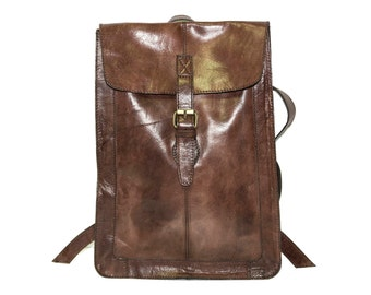 Leather Backpack Urban Brown | Premium Edition
