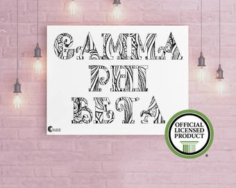 "Gamma Phi Beta Giant 18"" x 24"" Name Coloring Poster 