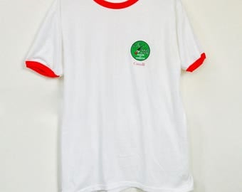 vintage Canada t-shirt / The National Alpine Association t-shirt / mens white t-shirt