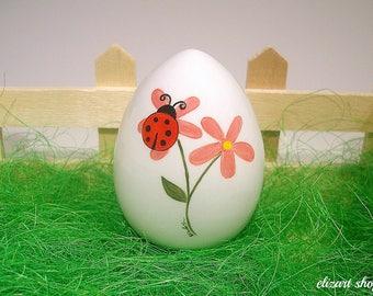 Ceramic egg, easter egg, hand painted egg, easter ceramics, easter ornament, easter basket decor, spring centerpiece, easter table decor.