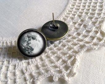 Blue Moon Stud Earrings