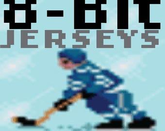 Nintendo style 8-Bit hockey jerseys from your favorite cities!