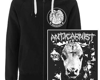 Vegan Hoodie 'Not Yours' Sweatshirt By Anticarnist Vegan Clothing