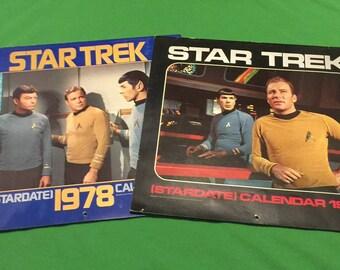 Vintage Star Trek Calendars/1977 & 1978 Year Calendars/Original TV Series/Stargate Calendars