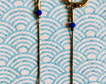 """Majorelle"" earrings"