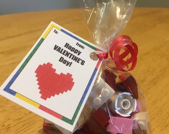 Lego Valentine's Day Favors