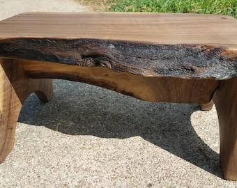 Rustic, Kids Step, Stool, FootStool, Foot Stool, Bed Stool, Walnut Wood, Pet Stool, wooden step stool, Step stool Chair, wooden step stool