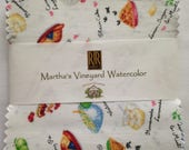 Cotton Quilting Fabric Charm Pack 42-5 and One Half Inch Squares Martha's Vineyard Watercolor Collection by RJR Fabrics, Susan Branch Design