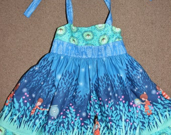 FIREFLIES - dress, fireflies, halter, boutique, girls, toddler