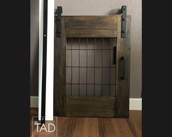 Mini Barn Door // Under Stairs Dog Kennel // Crawl Space Door //