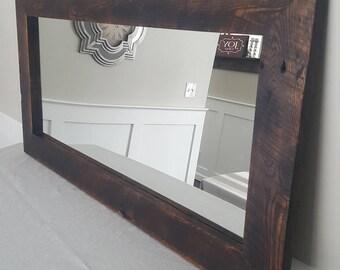 Reclaimed Oak Barnwood Mirror