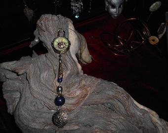 Mechanical clock, a lapis lazuli in tall.