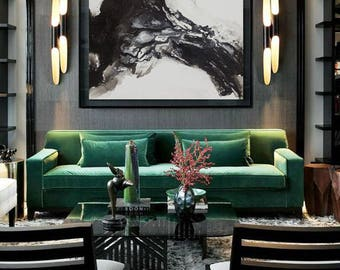 Large original abstract oil painting, Contemporary Art, Hand-painted Large wall Art, decor, Black and white Oil painting, large canvas art,