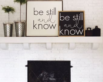 2'x2' | Be Still and Know | Square Wood Sign