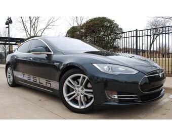 """Stickers set for Tesla Model S - """"Tesla"""""""