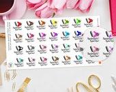 Hairdressers Appointment Planner Stickers  for Erin Condren, Kikki K, Happy Planner, schedule, Filofax, Recollections, Hair, Salon, Beauty