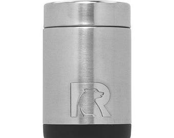Personalized Stainless Steel RTIC Can Cooler, Monogrammed Can Cooler, Groomsmen Gift