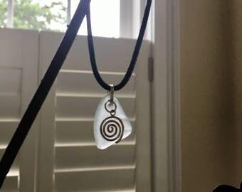 Swirl Sea Glass Pendant