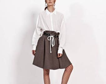 Leather belt harness for woman, harness belt, black leather belt